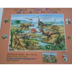 Puzzle géant dinosaure