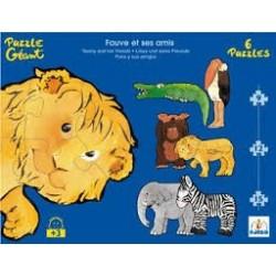 Puzzle géant animaux sauvages