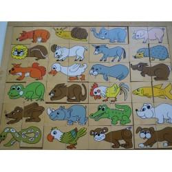 Puzzle droles d'animaux