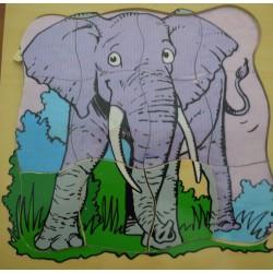 Puzzle éléphant sur 4 niveaux