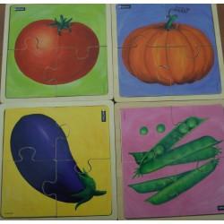 Puzzles 4 pièces légumes
