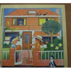 Puzzles de 9 pièces maison