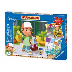 Puzzles Handy Manny 3x 49...