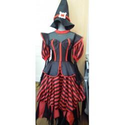Déguisement sorcière rouge