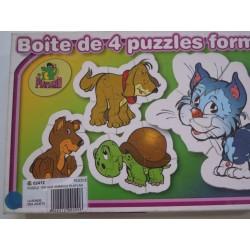 Puzzles de 4 animaux...