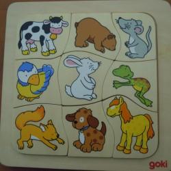 Puzzle qui mange quoi?