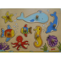 Encastrement monde sous marin