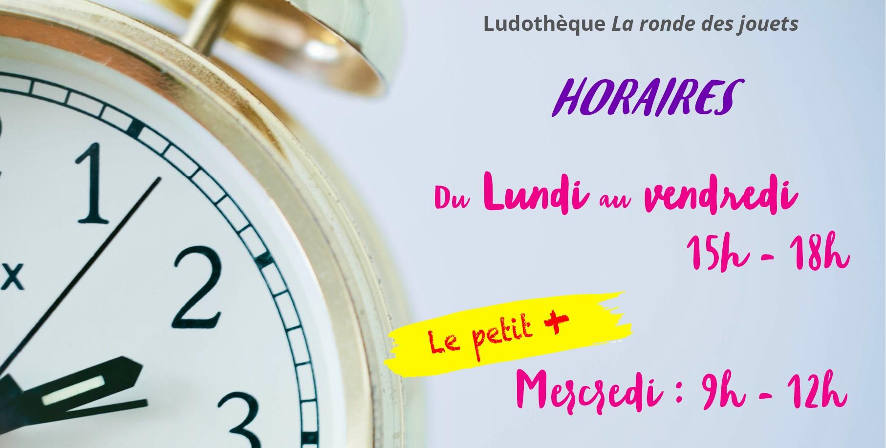 Publicité horaires Ludothèque